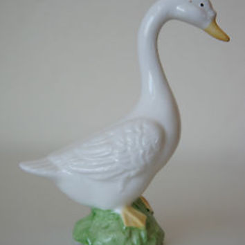 Vintage Lefton China Goose Figurine
