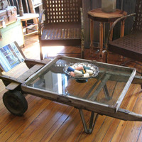 On the Farm Vintage Hand Truck Coffee Table Local by RevivalSmith