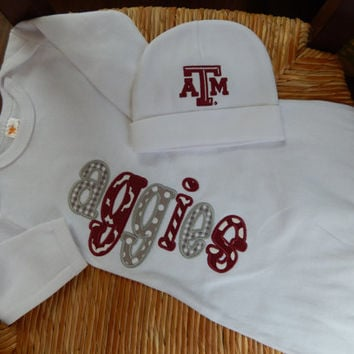 Texas Aggie Infant Gown and Cap