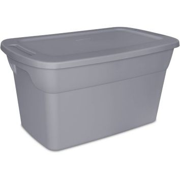 Sterilite 30-Gallon Tote Box, Gray - Walmart.com