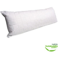 Walmart: Quilted Body Pillow, White