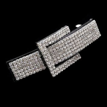 Luxurious Bling Hair Jewelry Fashion Hair Accessories Stone Hairpin Full Crystal Rhinestone Hair Clip Barrettes For Women