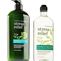Bath and Body Works Aromatherap Eucalyptus Spearmint Stress Relief Body Lotion and Body Wash
