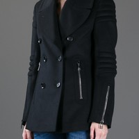 Belstaff Ribbed Panel Peacoat - Parisi - Farfetch.com