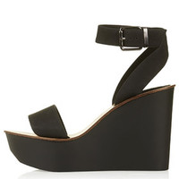WAFFLE Two Part Wedges - Black
