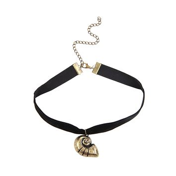 Licensed cool Disney The Little Mermaid BIG Ariel Ursula Shell Black Velvet Choker Necklace