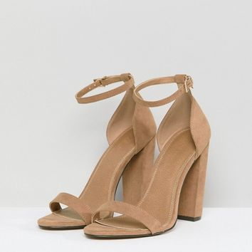 09ebd2e67590 ASOS DESIGN Highball barely there heeled sandals at asos.com