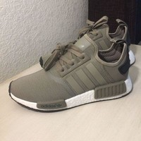 ONETOW New Adidas NMD R1 Trace Cargo Trail Olive Green 8.5