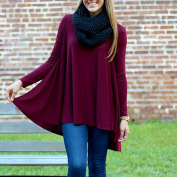 Sugar + Spice Tunic - Burgundy