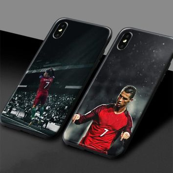 Cristiano Ronaldo Portuguese CR 7 Soft Silicone Phone Case Cover Shell For Apple iPhone 5 Se 5s 6 6s Plus 7 8 7Plus 8Plus X