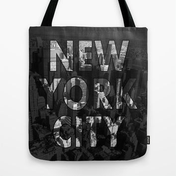 New York City - Black Tote Bag by Nicklas Gustafsson