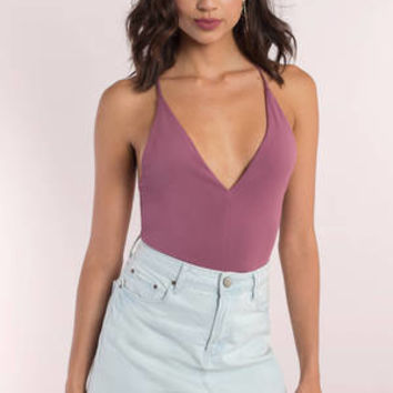 Holly Plunging Cami Bodysuit