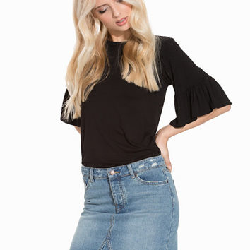 Frill Sleeve Top, New Look