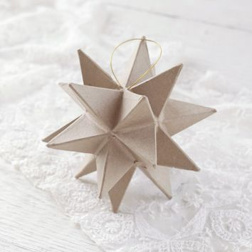 Paper Mache Star Ornament - 20 Point Moravian Christmas Star