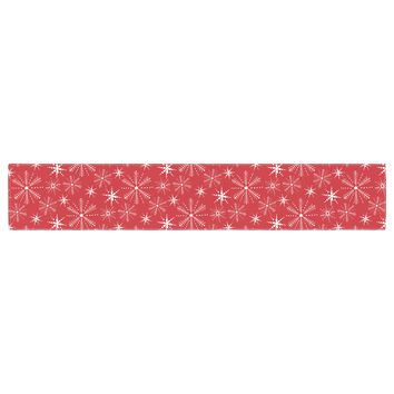 """Julie Hamilton """"Snowflake Berry"""" Holiday Table Runner"""