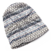 David & Young Aztec Striped Convertible Beanie Hat