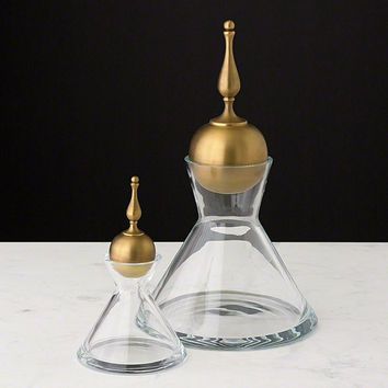 Global Views Finial Decanter-Brass-Lg - Global Views 1-10114