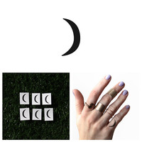 Crescent - Temporary Tattoo (Set of 6)