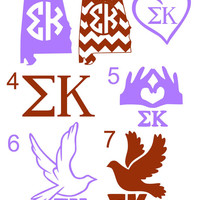 Sigma Kappa Decal