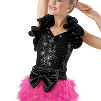 Sequin Leotard with Ruffle Shrug; Weissman Costume