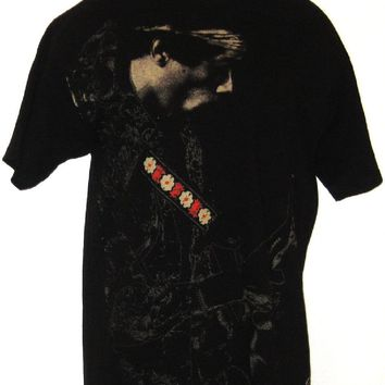 Jimi Hendrix T-shirt - Flower Guitar Strap | Men's Black Shirt