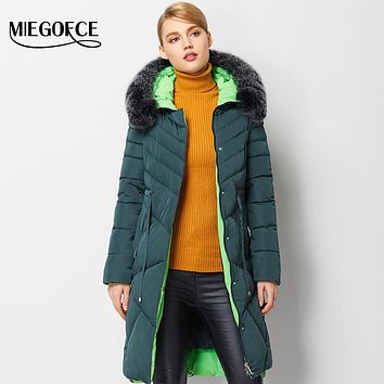 Winter Women Coat Jacket Warm High Quality Woman Park Jacket Winter Coat Hood Real Fox Fur MIEGOFCE 2016 New Winter Collection