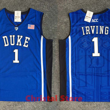 CANGSHI 2017 New arrivals Stitched High quality Duke Blue Devils Kyrie Irving basketball jerseys for men