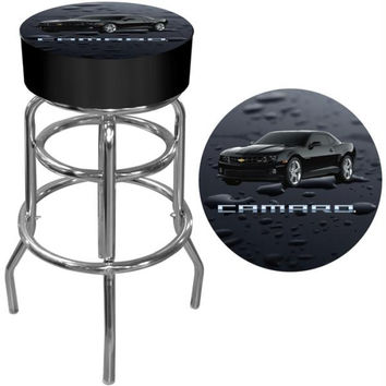 Black Camaro Padded Bar Stool