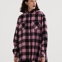 Lazy Oaf Heart Pocket Flannel Shirt - Clothing - New In - Womens