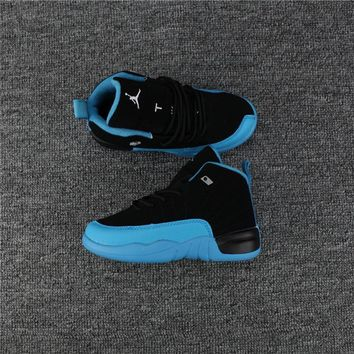 Kids Air Jordan 12 Black/blue Sneaker Shoe Size Us 11c 3y | Best Deal Online