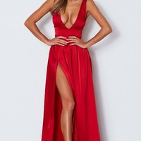 Time Is Up Maxi Dress Red