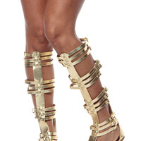 Empire Goddess Gold Gladiator Sandals
