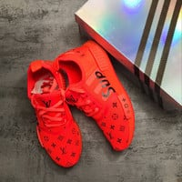 LV SUP Supreme x Louis Vuitton x adidas NMD R1 Sequins Fashion Trending Leisure Running Sports Shoes