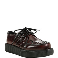T.U.K. Burgundy Rub Off Viva Low Sole Creepers
