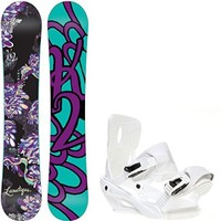 K2 Lunatique 149 Womens Snowboard + Sapient Zeta Bindings - Fits Boot Sizes: 6,7,8,9