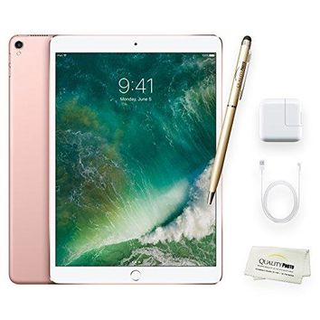 Apple iPad Pro 10.5 Inch Wi-Fi 512GB Rose Gold + Quality Photo Accessories (Latest Apple Tablet) 2017 Model..