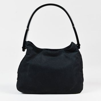 "Prada ""Nero"" Black Nylon Plexi Handle Bag"