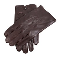Dents 3 Point Plain Leather Gloves