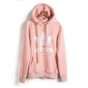 Adidas Casual Fashion Letter Print Lover Thickened Cotton Sweatshirt Hoodie Sweater