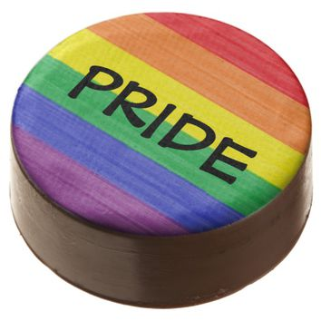 Painted Rainbow Flag Chocolate Covered Oreo