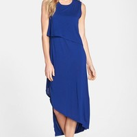Women's BCBG 'Kyrie' Asymmetrical Jersey Midi Dress