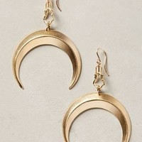 Grand Crescent Drops by Anthropologie Gold One Size Earrings