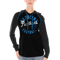Carolina Panthers Women's Play Clock Pullover Hoodie – Black