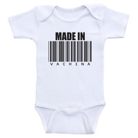 "Funny Baby Onesuit ""Made In Vachina"" Funny Baby Shower Gifts, Baby Clothes"