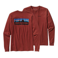 Patagonia Men's Long Sleeve P-6 Logo T-Shirt- Red