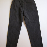 """Vintage Lee Mom Jeans 12 Relaxed Fit Tapered Leg Elastic Waist 28"""" 30"""""""