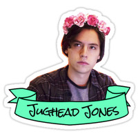 'jughead jones flower crown sticker' Sticker by lunalovebad