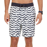 Nautica Mens Printed Drawstring Swim Trunks