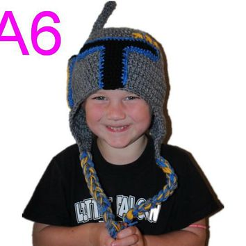 Boba Fett Hat - Crochet Star Wars Boba Fett Costume - Kids Star Wars Costume - Comic-Con Costume - Baby Cosplay hat 20pcs/lot