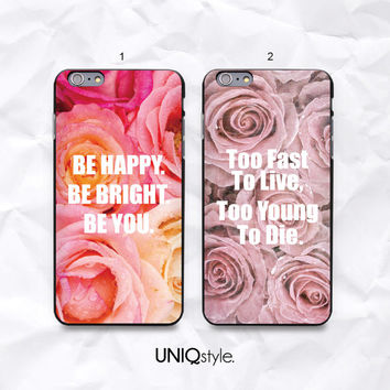 Life quote retro floral case for LG g2, LG g2 mini, LG g3, Nexus 4, Nexus 5, L70, L90 - vintage rose flower phone cover with quote - N43